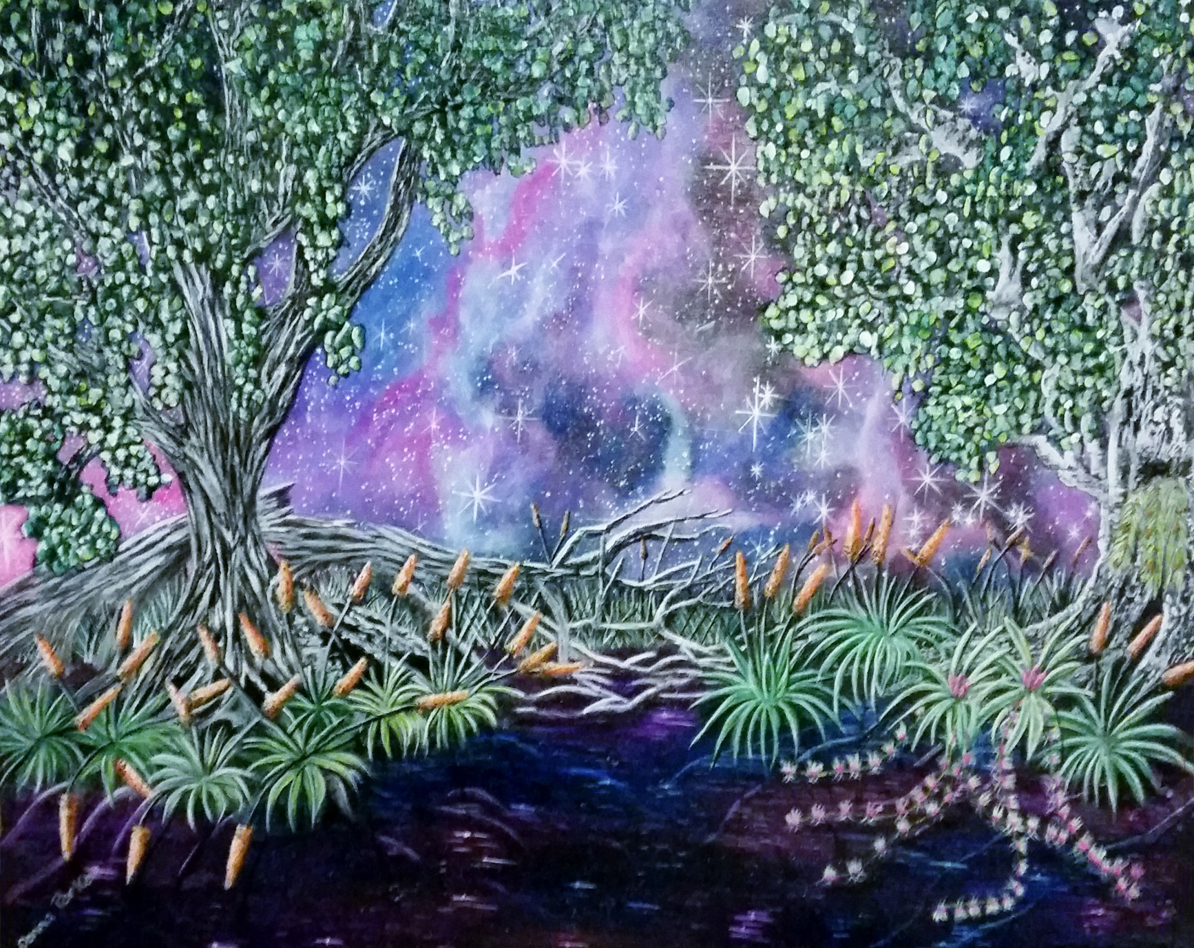 Amethyst night - Art print