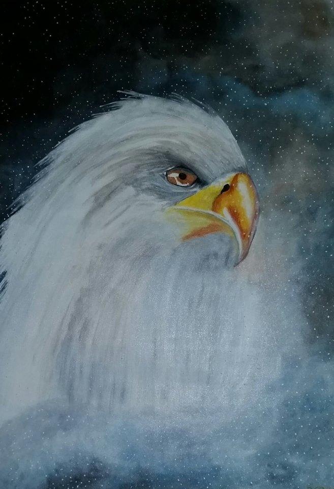 Courage - Art print (eagle)