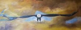 Eagle in flight - Art print