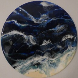 No 2 Aussie Swirl - Great Barrier Reef Series - Resin art