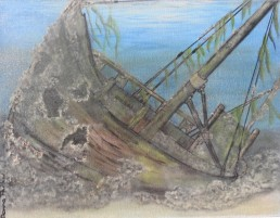 No 12 - Shipwreck - Painting