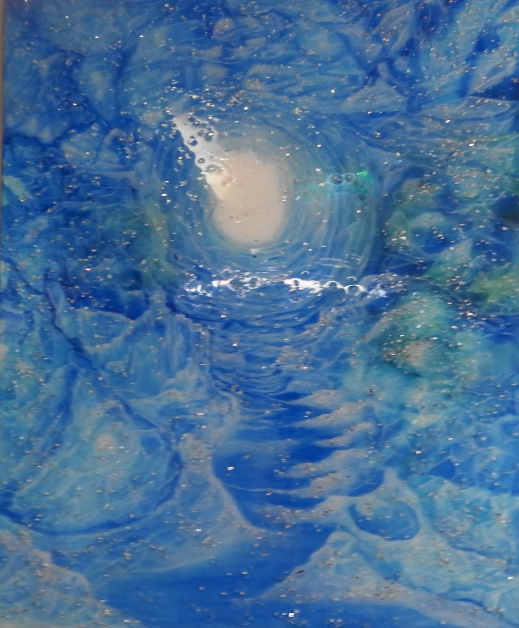 No 2 - Ice cave - Resin art