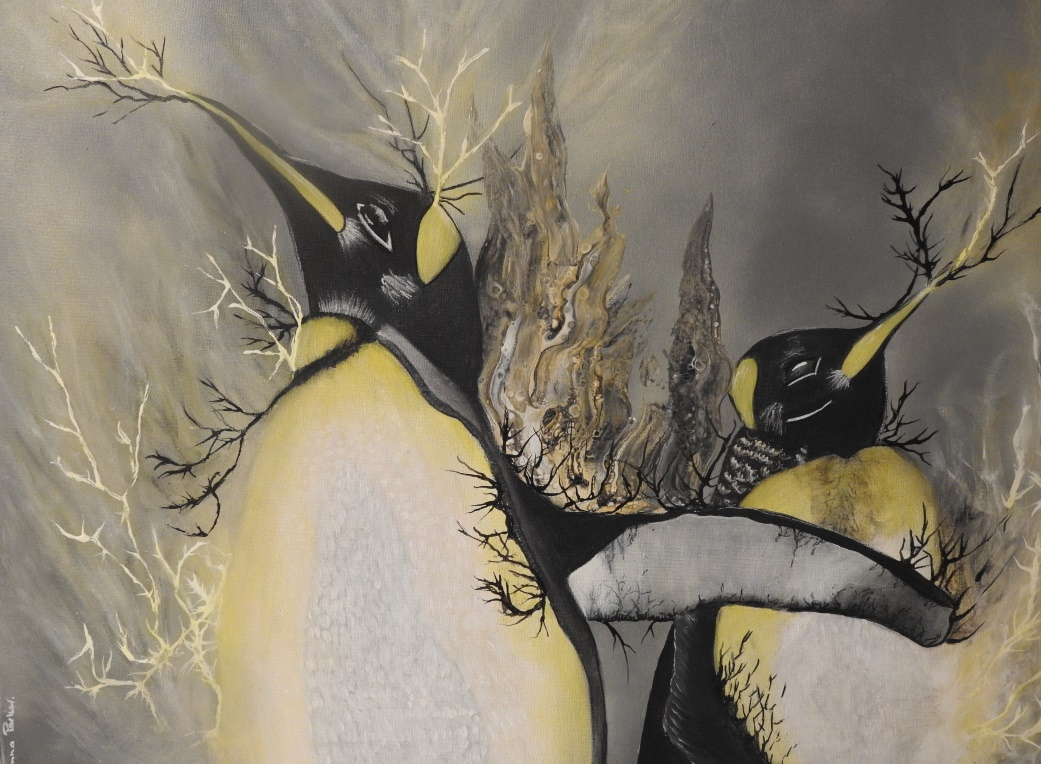 No 7 - Penguin's United - Painting