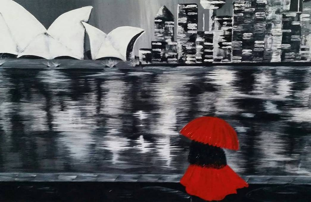 Monochromatic - Day at the Harbour - Art print