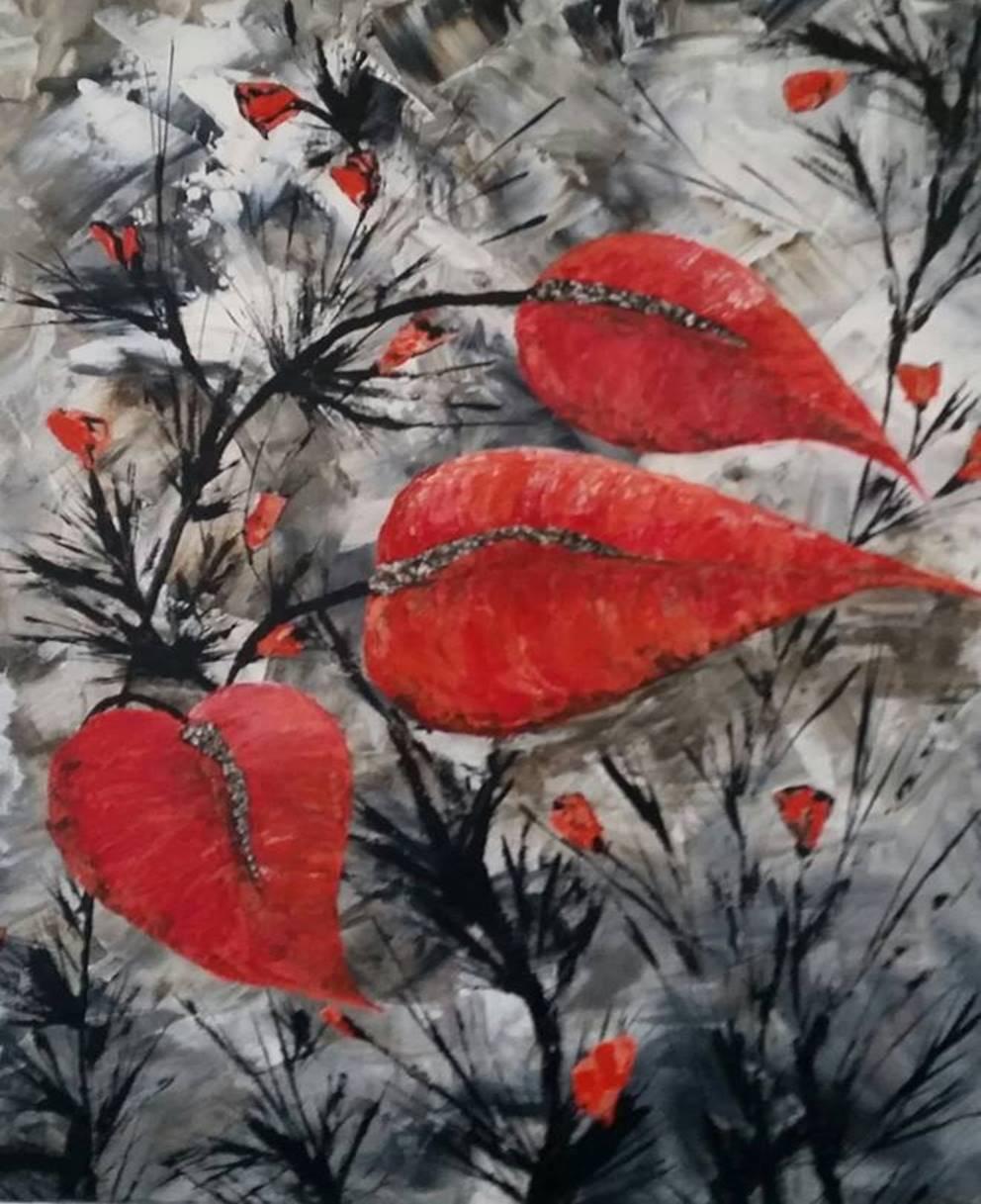 Monochromatic - Floral Series 2 - Art print