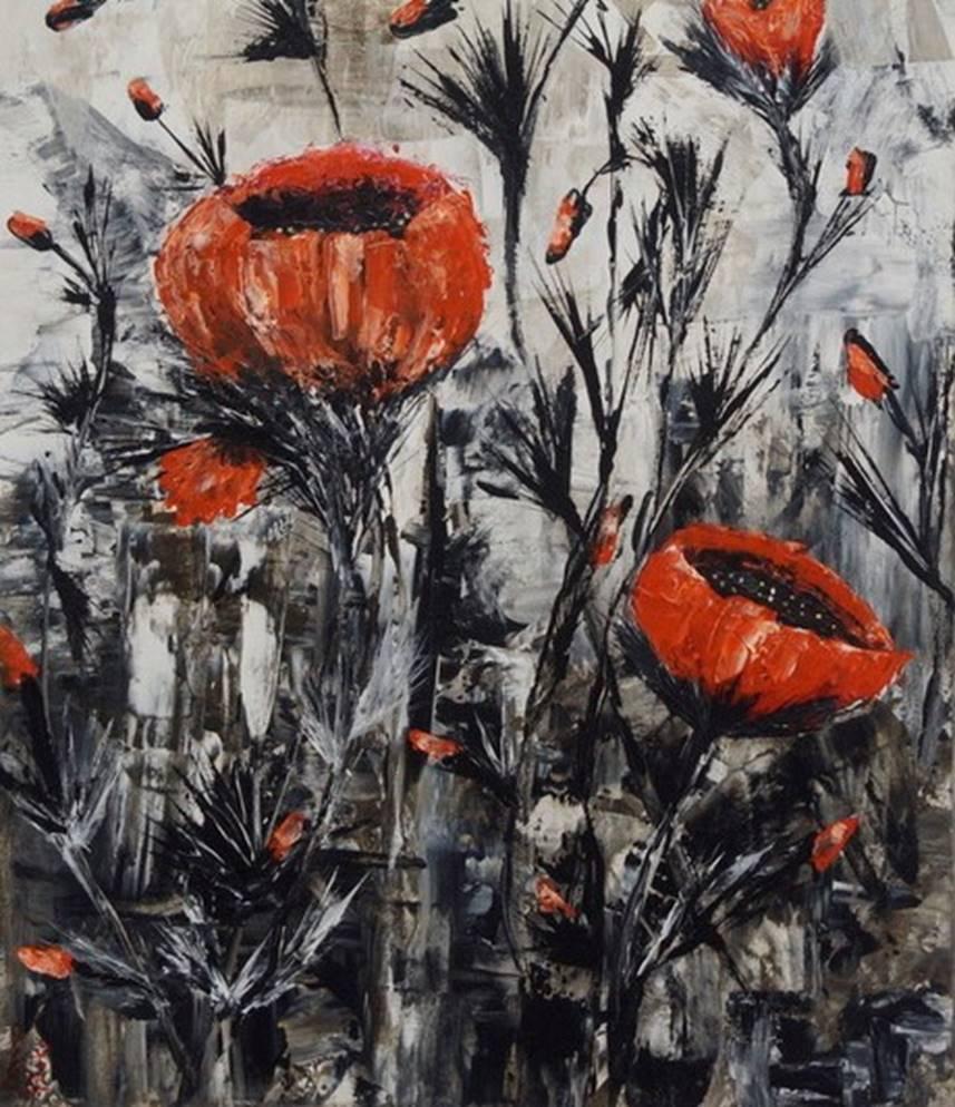 Monochromatic - Floral Series 3 - Art print