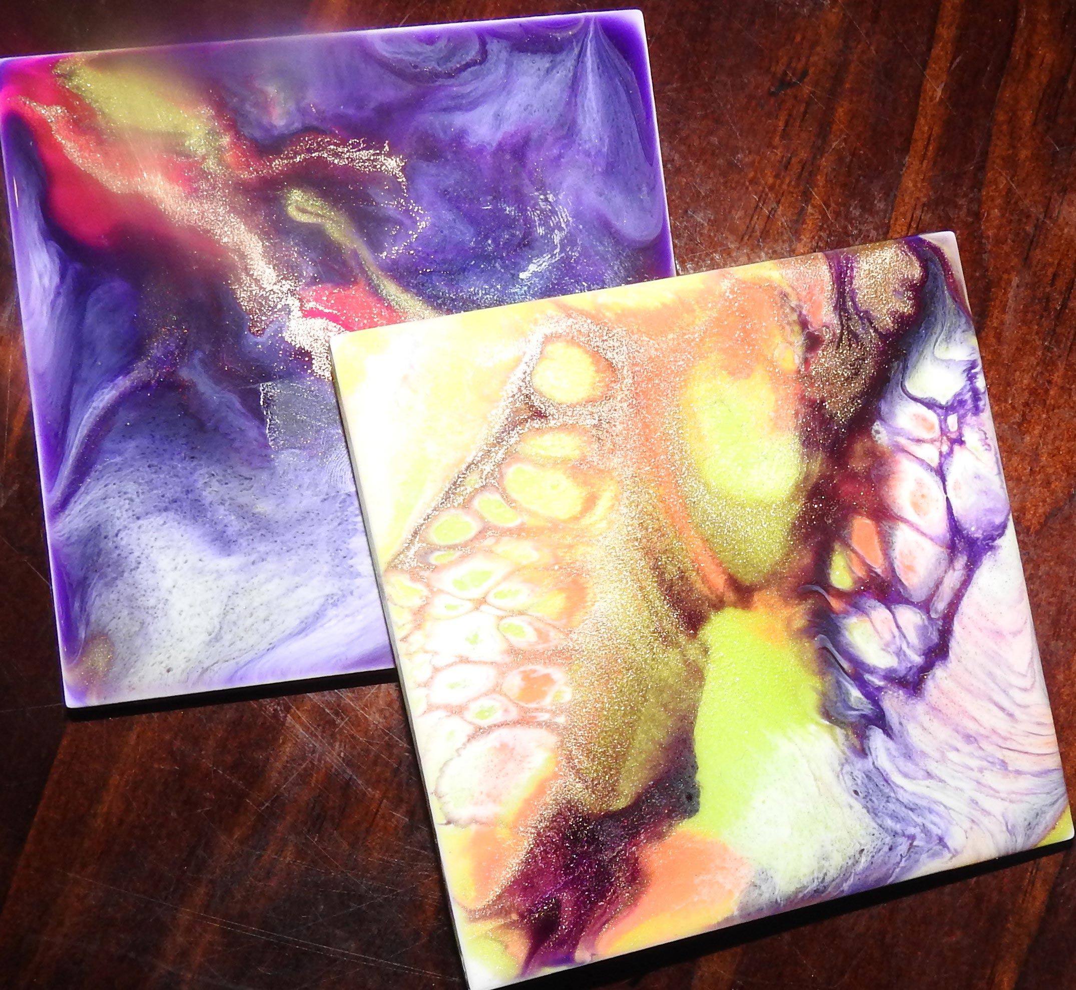 Resin coasters available to purchase or choose your own colours