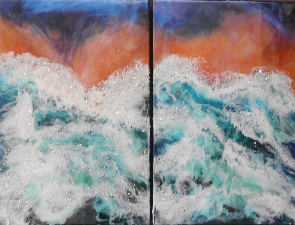 Dancing Waters - Resin art