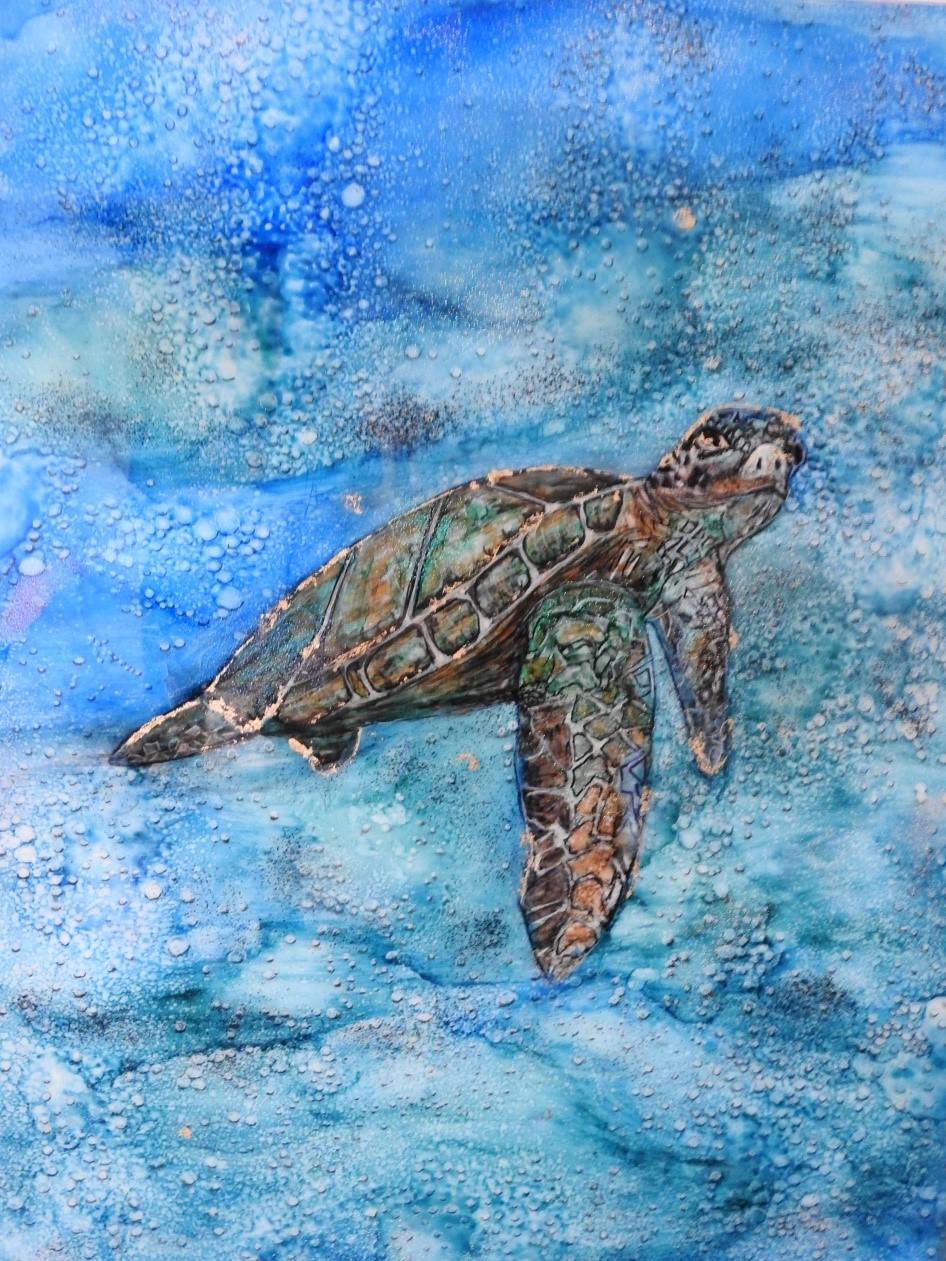 Restrain - Turtle - Resin art