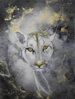 Self Discover - Cougar - Resin art