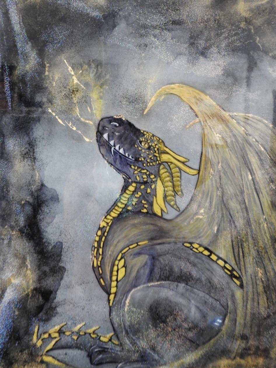 Transformation - Dragon - Resin art