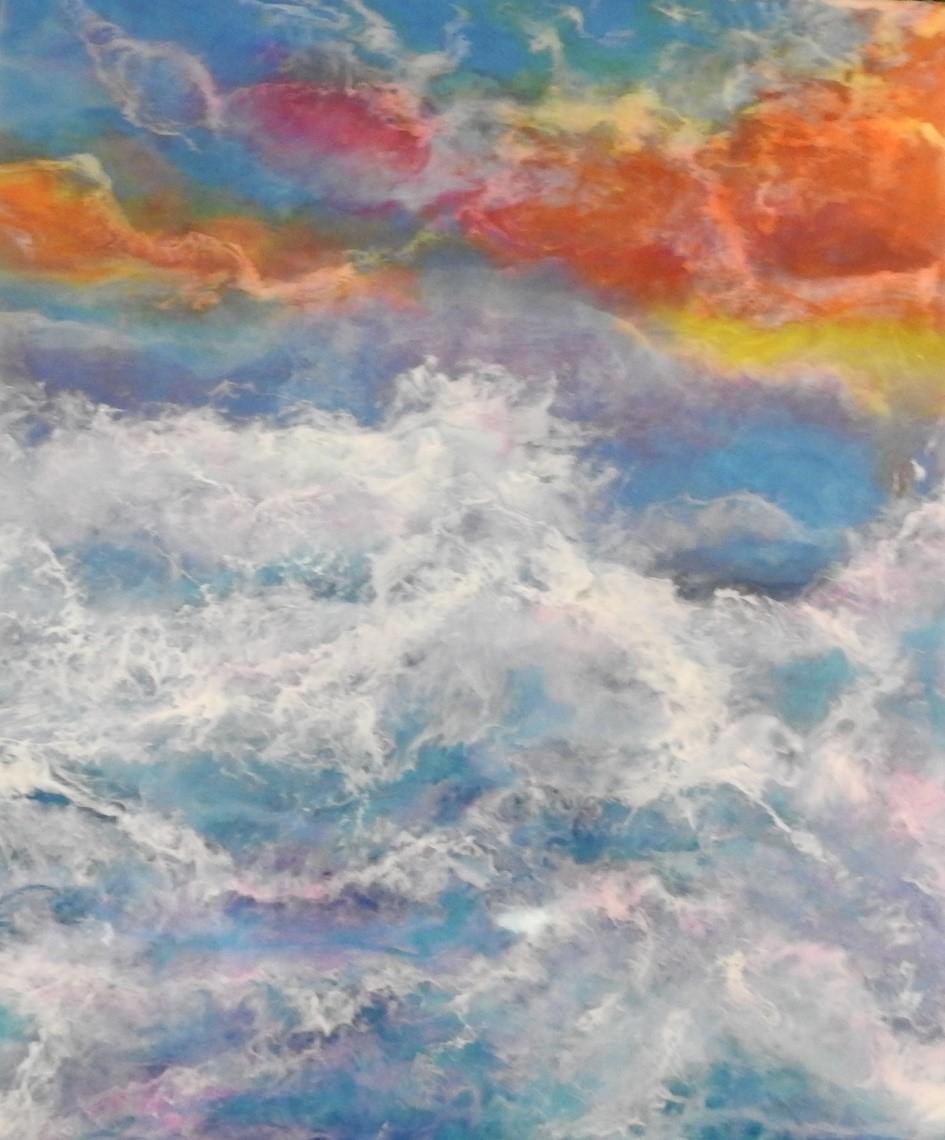 Stormy waters - Resin art