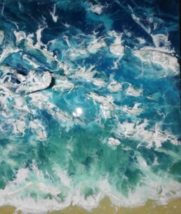 Tropical Ocean 3D - Resin Art